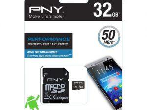 PNY 64GB MicroSDHC class 10