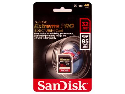 Sandisk Extreme Pro 32GB SDHC 4K UHD