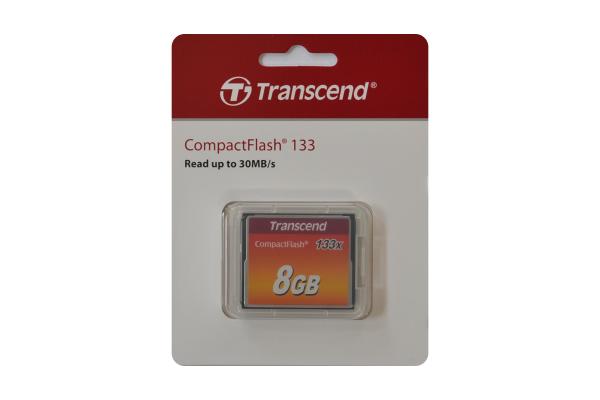 Transcend 8GB CompactFlash 133x