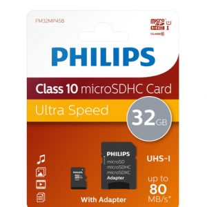 Philips Ultra Speed 32GB MicroSDHC 80mbs
