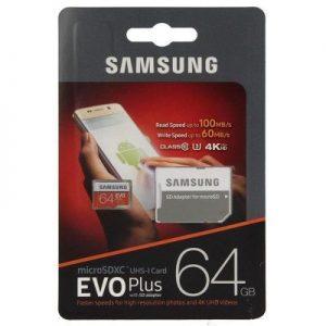 Samsung Evo Plus 64GB MicroSDXC 100mb/s