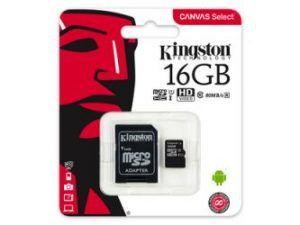 Kingston Canvas Select MicroSDHC 16GB