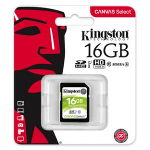 Kingston SDHC 16GB Canvas Select