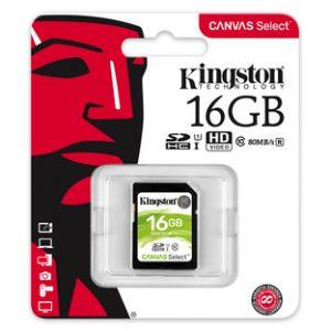 Kingston SDHC 16GB Canvas Select
