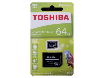 Toshiba 64GB MicroSDXC 100mbs