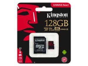 Kingston Canvas React 128GB MicroSDXC 100mbs