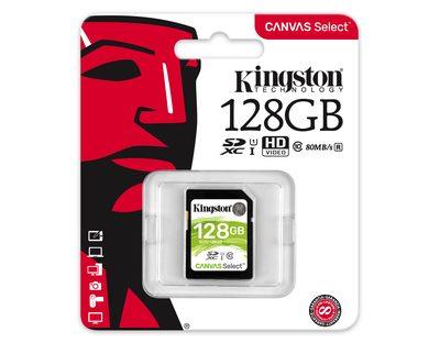 Kingston SDXC 128GB Canvas Select