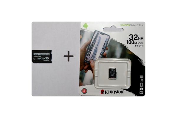 Adapter Memory Stick Pro Duo en 32GB Kingston microSDHC